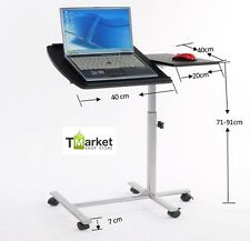 New Laptop Cart Desk Rolling Height Adjustable Portable Notebook Mobile Stand