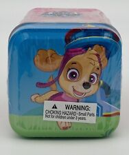 Set of 4 Paw Patrol Tins Each Contains 3 Sticker Sheets 1 Pup Tag & 1 Dangler