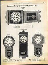 1915 ADVERTISEMENT Waterbury Office School Clock Time Calendar Regulator Postal