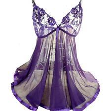 Little púrpura Noche Vestido Talla Grande Lencería Babydoll Camisón-privada 5 XL