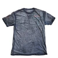 Men's Affliction Live Fast 2XL Short Sleeve Gray Distressed T-shirt Pre-owned