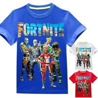 Fort Cartoon Tee Shirt Pullover Tops Cosplay Toddle Boys Kids Game Four Seasons