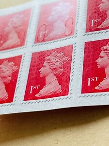 Book of 12 1st Class Security Red  Brand New Royal Mail Stamps Self Adhesive