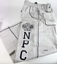 Mens Workout Sweat Pants NPC Bodybuilding Wear Fleece Sweatpants Gym Clothing