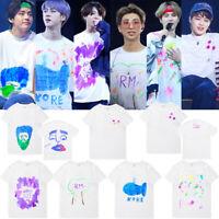 Kpop BTS Graffiti Cotton T-Shirt SUGA JIMIN V Graphic Shirt Unisex Tee E072