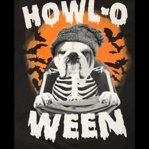 Halloween Kids Unisex T-Shirt Bull Dog Howl-o ween