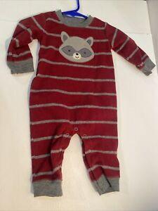 Child Of Mine Sz 3-6 Months Velour Footless Sleeper