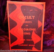 OCCULT SECRETS OF SOLOMONS SONG Finbarr Occult Grimoire Magic Magick Bible
