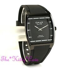 OMAX Slim Black Sporty Seiko Y121 Movt Square Unisex Watch 4 Year Warranty D006