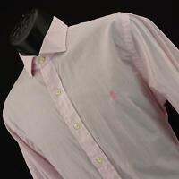 Mens Polo Ralph Lauren Slim Fit Oxford Stripe Golf Dress Shirt Sz 16 34/35 Large