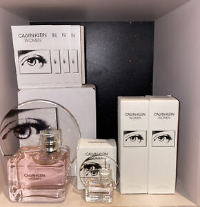 Calvin Klein WOMAN 3.4 OZ With FREE Miniature And Samples + 2 Of 1.0 OZ Lotion