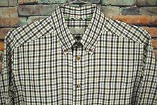 ETON Long Sleeve Dress Shirt 40 MEDIUM Contemporary Brown White Tartan Plaid
