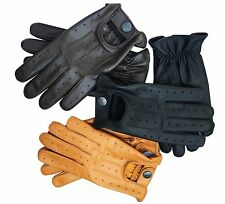 NEW TOP QUALITY REAL SOFT LEATHER MENS DRIVING GLOVES  (7012)