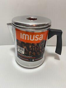 Imusa Aluminum Coffee Percolator - no cap - dent