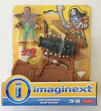 NIB Fisher Price Imaginext Captain Kidd & Surf Board Figure kid