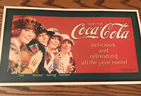 Coca-Cola Retro Delicious & Refreshing All The Year 'round. Vintage Looking.