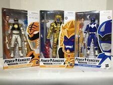 Power Rangers | Lightning: Mighty Morphin White + Blue Ranger + Goldar 3 Pack
