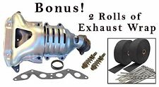Exhaust Manifold w/ Catalytic Converter for 01-05 Honda Civic 1.7L L4 Heat Wrap