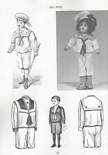 """10-12""""ANTIQUE FRENCH-GERMAN BOY GIRL KID BODY DOLL@1900-'30 CLOTHES PATTERN BOOK"""