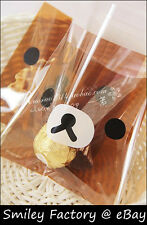 New 100pcs San-x Rilakkuma Food Grade Materials Bags for Gift Candy Cookie Bags