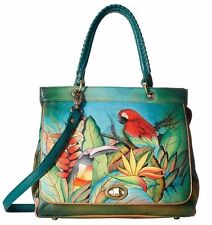 Anuschka Tropical Bliss Large Convertible Satchel, Genuine Leather 563-TBL