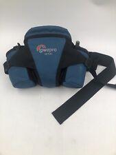 LOWEPRO-Off Trail Camera Hiking Walking Fanny Pack Padded Lens Camera Case Blue