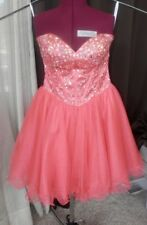 CLARISSE  peach Orange Corset dress  homecoming ,Prom ,Formal Gown sz 9/10