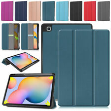 """Leather Flip Smart Case Cover For Samsung Galaxy Tab S6 Lite 10.4"""" SM-P610/P615"""