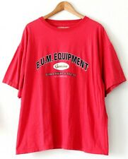 Vintage BUM Equipment Mens Shirt Size Large Spell Out Red Worldwide Casual 93