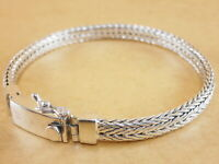 "New 925 Sterling Silver Foxtail Franco Wheat Bracelet Bali Tulang Naga 8.25"" 31g"
