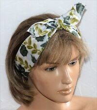 LADIES NEW GENUINE VINTAGE CUTE 60s FLORAL HAIR BANDANA HEADBAND NECK SCARF E232