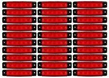 30 x 12 V DEL Rouge Arrière côté marqueur Lumière Lampe Camion Remorque Camion Imperméable X 6