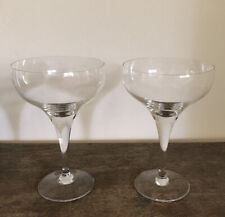 Rosenthal Lotus MCM Champagne Sherbet Wine Sherry Glasses ~ Pair Excellent Cond