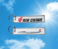 Air China Boeing 747-8 keychain keyring key tag