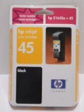 HP 45 Inkjet Print Cartridge Black 51645A Genuine Unopened Expired Feb. 2003