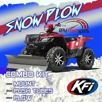 Tusk SubZero Snow Plow Kit 50 Blade for Polaris SPORTSMAN 400 4X4 2002-2005 Winch Equipped ATV