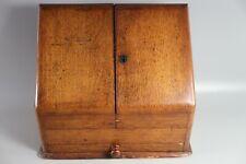 Antique Oak Desk Top Stationary Cabinet Desk Tidy Letter Rack Writing Box