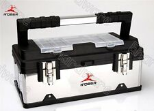 """Stainless Steel Polypropylene Combination Tool Box With Tote 16"""" (RTG-232)"""