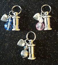 Pet ID Barrel Beads & Heart Charm Cat ldentity Tube Kitten Identification Tag