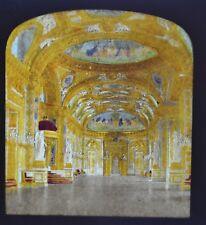 1850/60 Hold To Light Colour Tissue Stereoview Photo Palais Du Senat Trone Grau