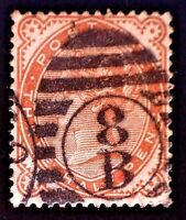 CatalinaStamps: Great Britain Stamp #80 Used, SCV=$50, #A-2