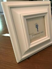 """White Pottery Barn Wood Gallery Picture Frame - Single 7.5""""x7.5"""""""