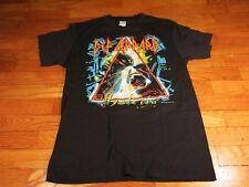 S M Def Leppard Hysteria VTG Black Band Tour T Shirt 1987 88 80's L