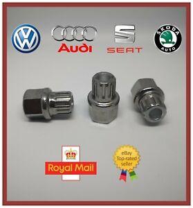 New Audi Volkswagen VW Seat Skoda Locking Wheel Nut Key 62 / 17pt Spline Rib