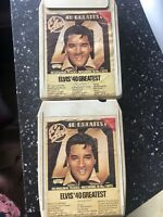 ELVIS PRESLEY 40 GREATEST I & 2 VINTAGE 8 EIGHT TRACK CASSETTES TAPE CARTRIDGE