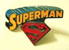 DC Comics Superman Comic Book Logo Enamel Pin - New