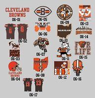 06-00 Cleveland Browns decals Baker Mayfield Beckham JR Jersey Logo vinyl decal