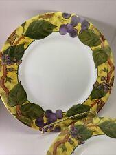 2 Corelle TUSCAN VINE 10 34 Inch Dinner Plates SET 2 USA Vintage Never Used
