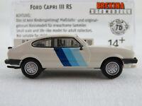 Brekina 19554 Ford Capri Mk III RS (1981) in weiß 1:87/H0 NEU/OVP