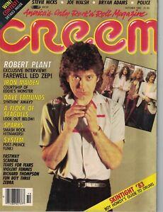 1983 Creem October - Robert Plant; Iron Maiden; Police; Bryan Adams; Edmunds
